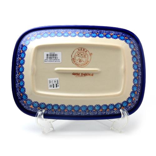 ポーランド陶器 長方形盛り皿・小
