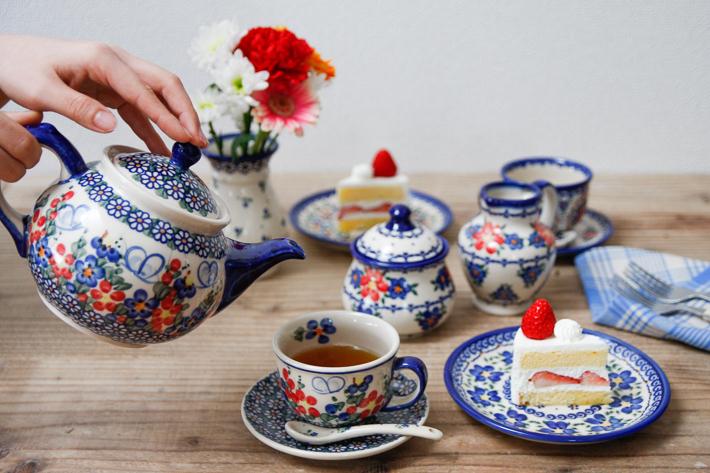 ポーランド陶器 ティーポット