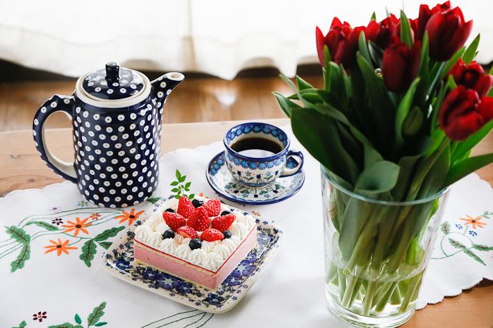 ポーランド陶器 ポット・大イメージ