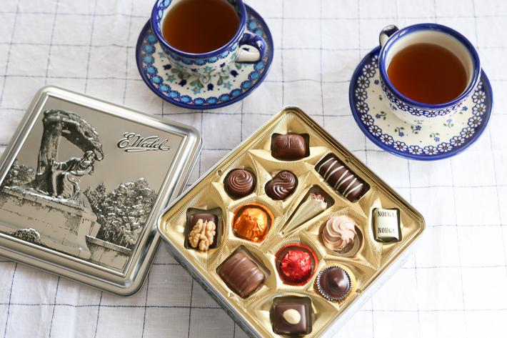 チョコレートと紅茶