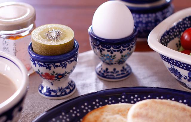 ゆで卵 皿