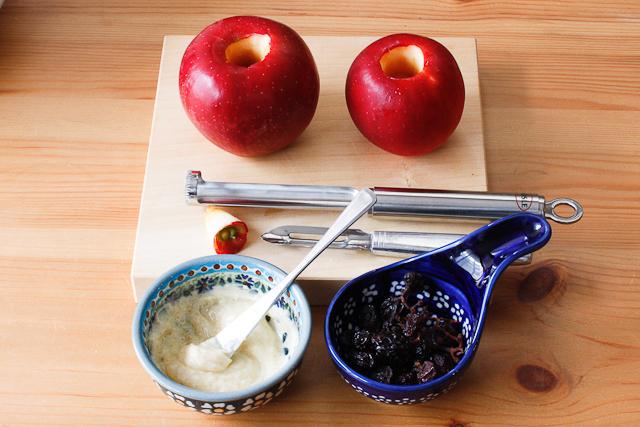 焼きりんごの材料と道具