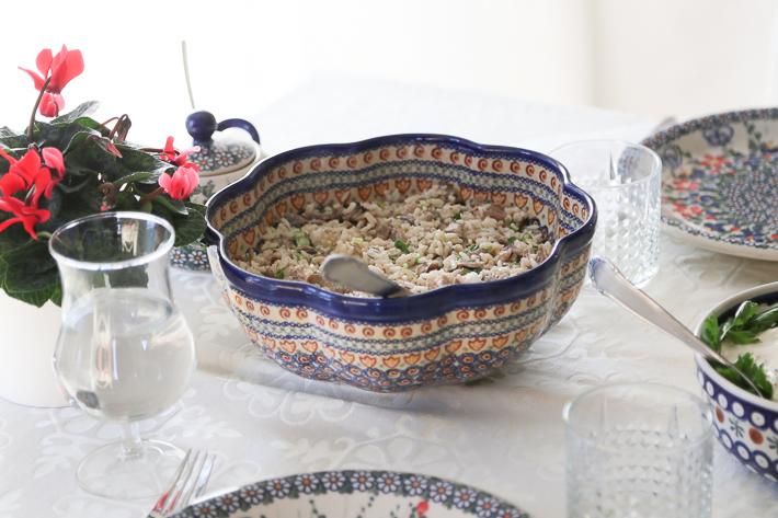 マッシュルームとお米のサラダ